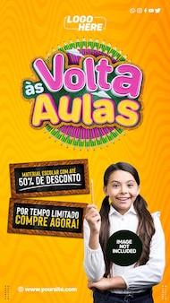Histoires sur les réseaux sociaux retour à l'école au brésil pour une durée limitée acheter maintenant