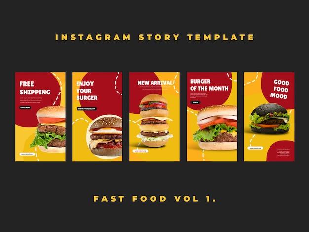 Histoires de restauration rapide sur instagram