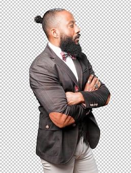 Homme d'affaires noir debout