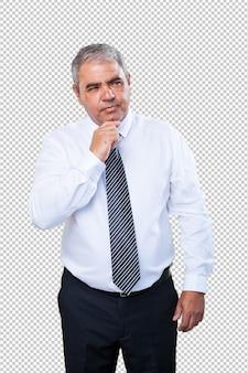 Homme d'affaires pensant