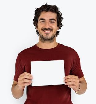 Homme joyeusement souriant portrait concept