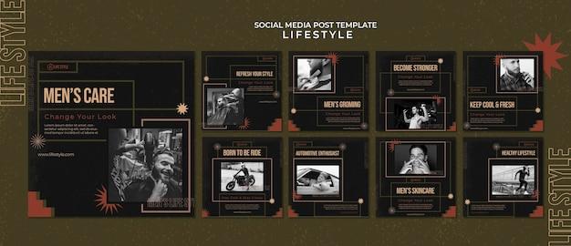 Les hommes se soucient des publications sur les réseaux sociaux
