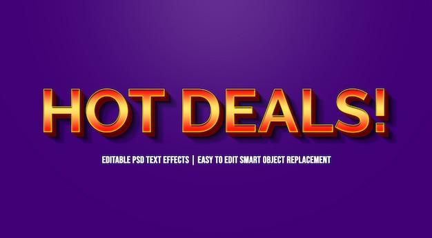 Hot deals dans les effets de texte