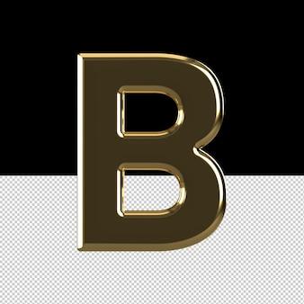 Huile effet texte lettre b