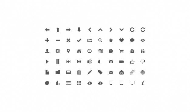 Icon set lignt icon set ui icône
