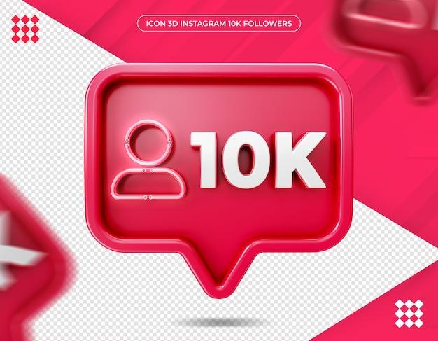 Icône 10k abonnés sur instagram design