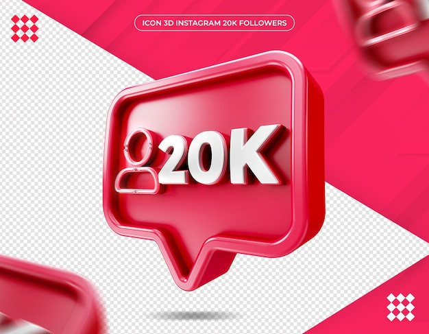 Icône 20k abonnés sur instagram design