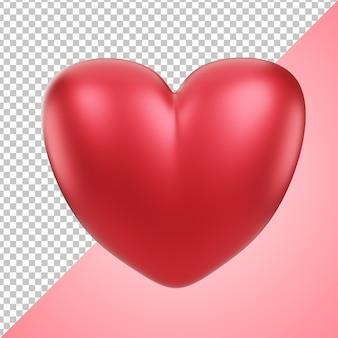 Icône 3d amour rouge