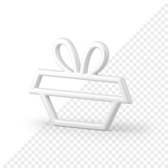 Icône 3d de cadre de forme de cadeau