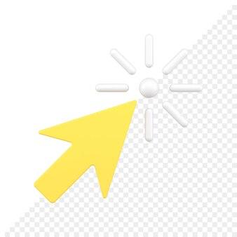 Icône 3d de curseur de flèche