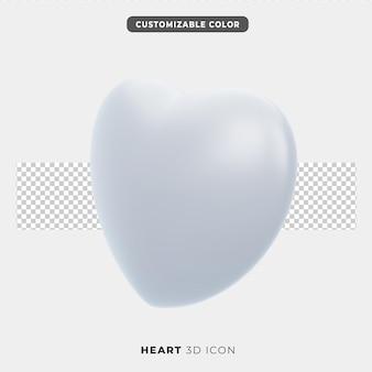 Icône 3d du coeur