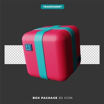 Icône 3d du paquet de boîte