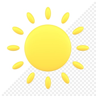 Icône 3d du soleil