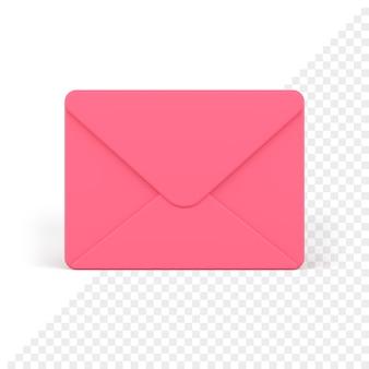 Icône 3d enveloppe fermée