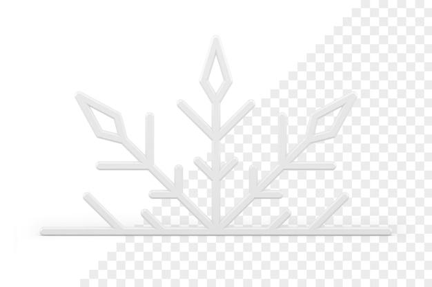 Icône 3d de flocon de neige de noël