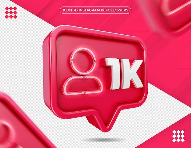 Icône 3d instagram 1k isolé