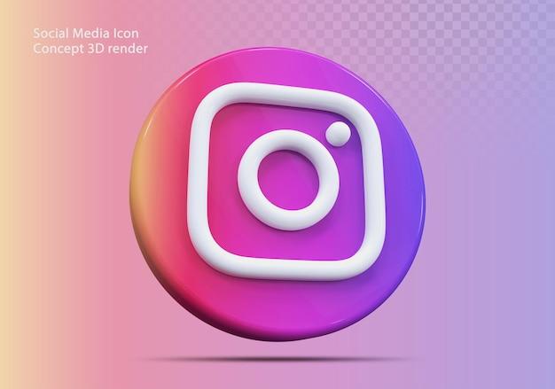 Icône 3d instagram médias sociaux