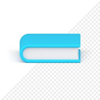 Icône 3d de livre bleu