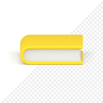 Icône 3d de livre jaune