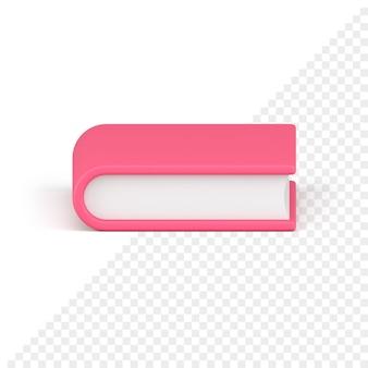 Icône 3d livre rose