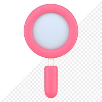 Icône 3d de loupe