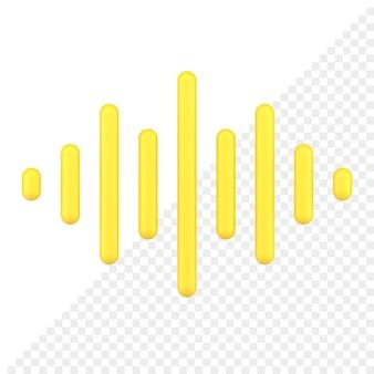 Icône 3d de l'onde sonore