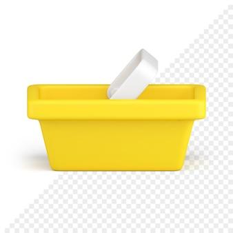 Icône 3d de panier d'achat
