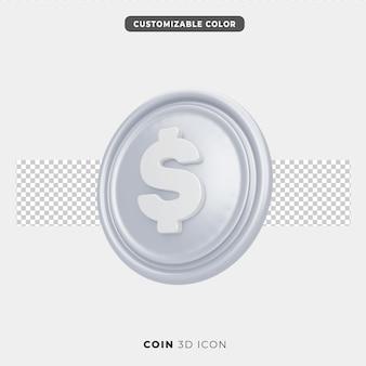 Icône 3d de pièce de monnaie