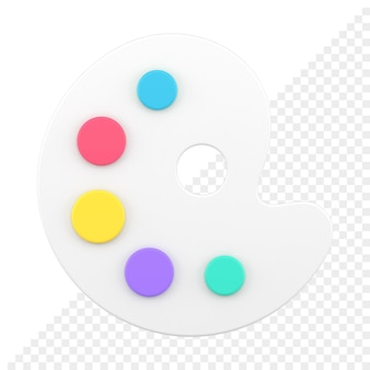 Icône 3d de pinceau