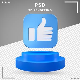 Icône 3d pivotée comme