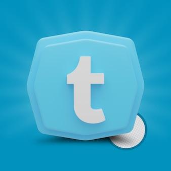 Icône 3d de polygone twitter