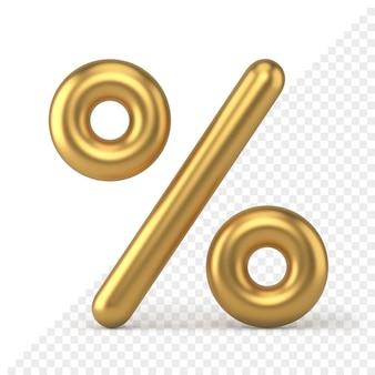 Icône 3d de signe de pourcentage