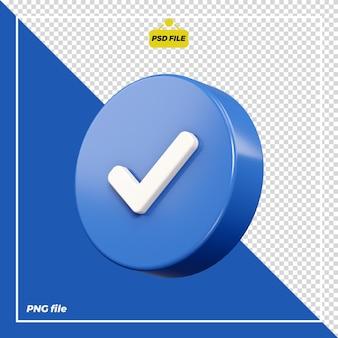 Icône 3d vérifiée