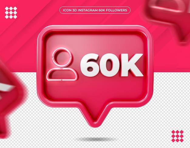 Icône 60k abonnés sur instagram design