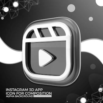 Icône de l'application 3d instagram pour la composition