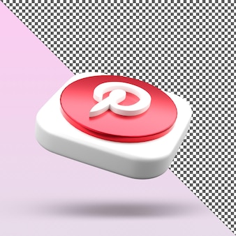 Icône de l'application 3d pinterest design isolé