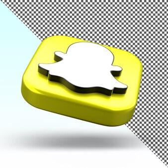 Icône de l'application 3d snapchat design isolé