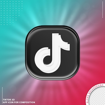 Icône d'application 3d tiktok