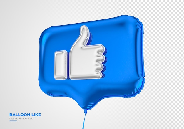 Icône de ballon comme facebook 3d render médias sociaux