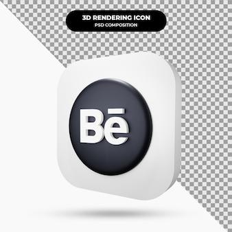 Icône behance object 3d