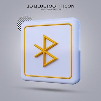 Icône bluetooth de rendu 3d isolé
