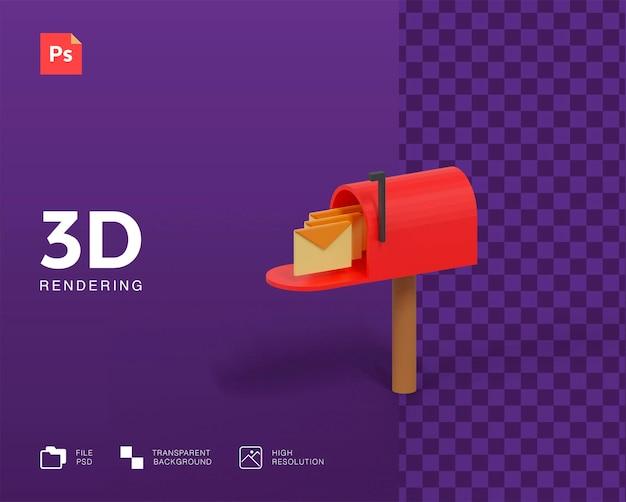 Icône de boîte aux lettres 3d