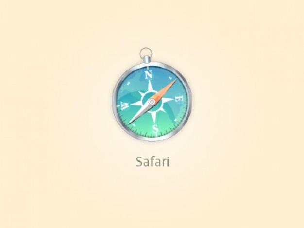 Icône de la boussole comme représentation du navigateur safari psd