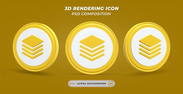 Icône de calque dans le rendu 3d