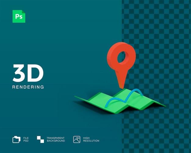 Icône de carte 3d
