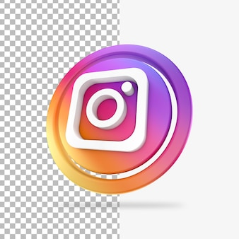 Icône de cercle de rendu 3d instagram