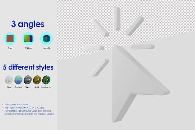 Icône de clic 3d
