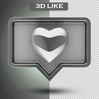 Icône comme 3d avec coeur