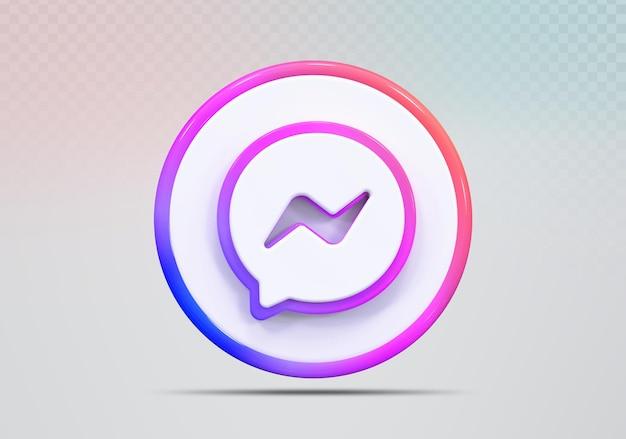 Icône de concept de rendu 3d message