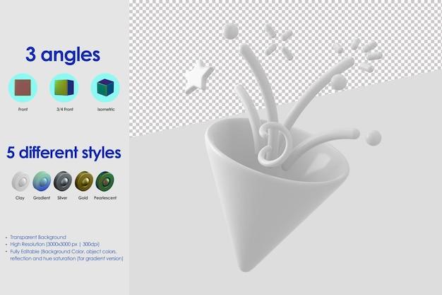 Icône de confettis 3d
